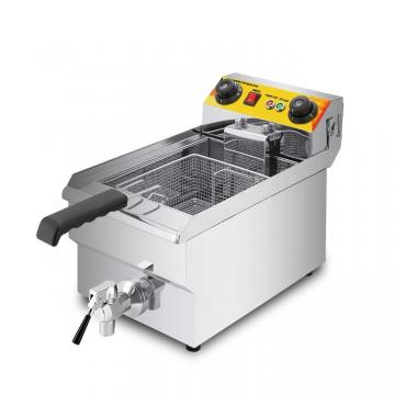 Counter Top Three Cylinder Stainless Steel Gas Deep Pressure Fryer